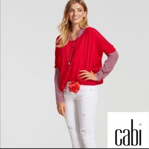 CAbi cartwheel pullover sweater size Large